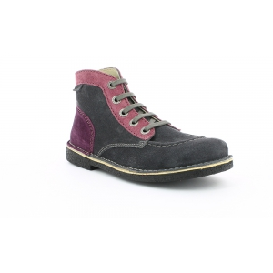 Kickers LEGENDOKNEW GRIS ROSE VIOLET