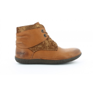 Kickers HOBYLOW MARRON BRILLANT