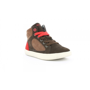 Kickers LYNX MARRON ROUGE