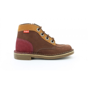 Kickers KICK COLZ MARRON CAMEL BORDEAUX