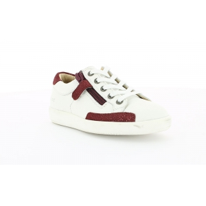 Kickers HAMERI WHITE BURGUNDY