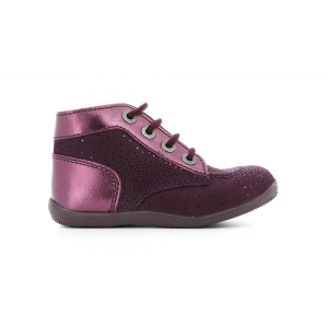Kickers BONBON DARK PURPLE METALLIC