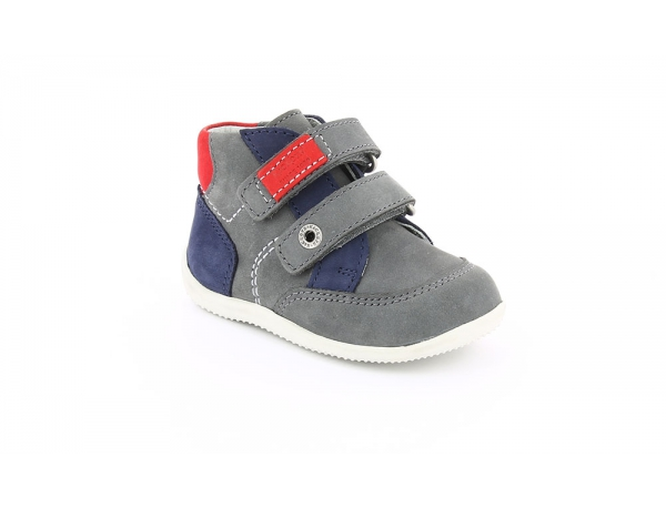 Kickers BARTINO GRIS MARINE ROUGE