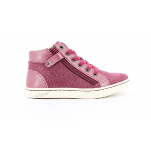 Kickers LYLUBY BURGUNDY METAL LIC