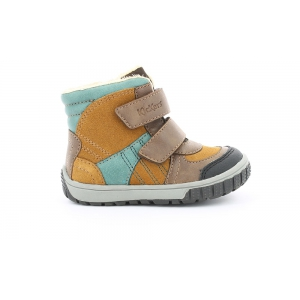 Kickers SITROUILLE WPF BROWN BLUE PETROL TAN