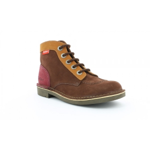 Kickers KICK COL MARRON CAMEL BORDEAUX