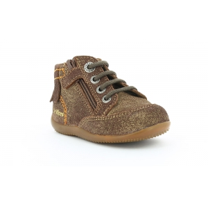 Kickers BAYAA MARRON METALLIQUE