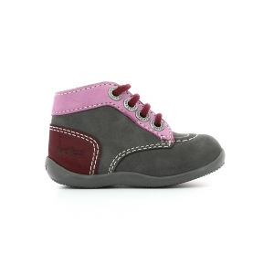 Kickers BONBON GREY PINK DARK PINK