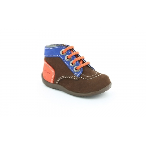 Kickers BONBON DARK BROWN BLUE ORANGE