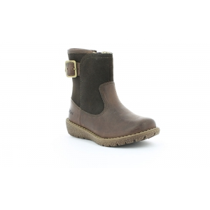 Kickers UZUSTIN MARRON FONCE PAILLETTE