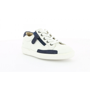 Kickers HAMERI WHITE BLUE METALLIC