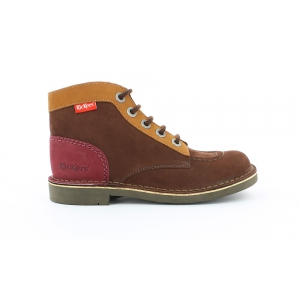 Kickers KICK COL BROWN CAMEL BURGUNDY