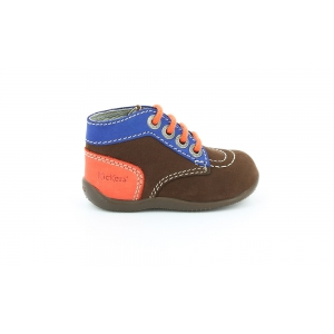 Kickers BONBON MARRON FONCE BLEU ORANGE