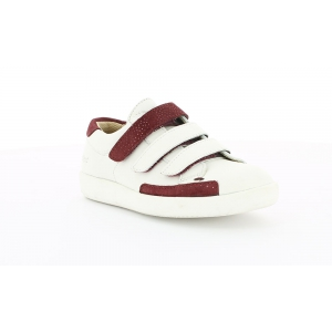Kickers HASTAN WHITE BURGUNDY