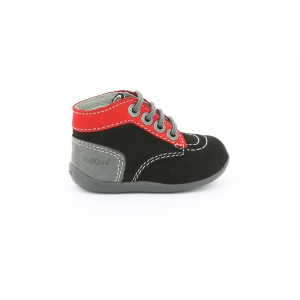 Kickers BONBON BLACK RED GREY