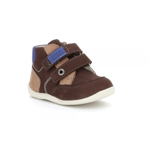 Kickers BARTINO DARK BROWN BEIGE BLUE