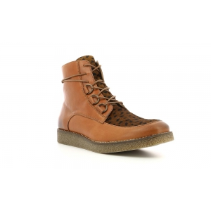 Kickers ZENHIT LT BROWN DK BROWN