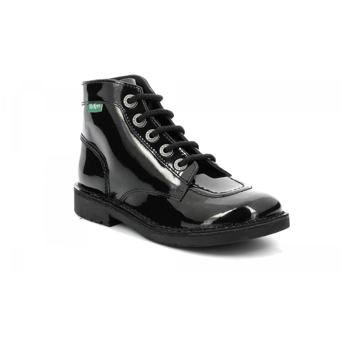 44ece59d54ce99 Chaussures Enfant KICK COL NOIR VERNIS PERM - Kickers