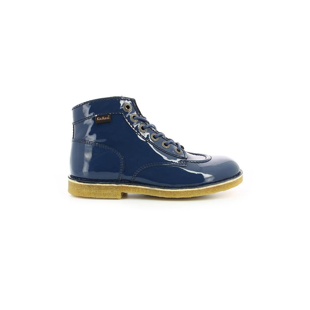 9f8d42e7e1ff2c Chaussures Femme KICK LEGEND MARINE VERNIS - Kickers