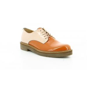 Kickers OXFORK ORANGE PINK PATENT