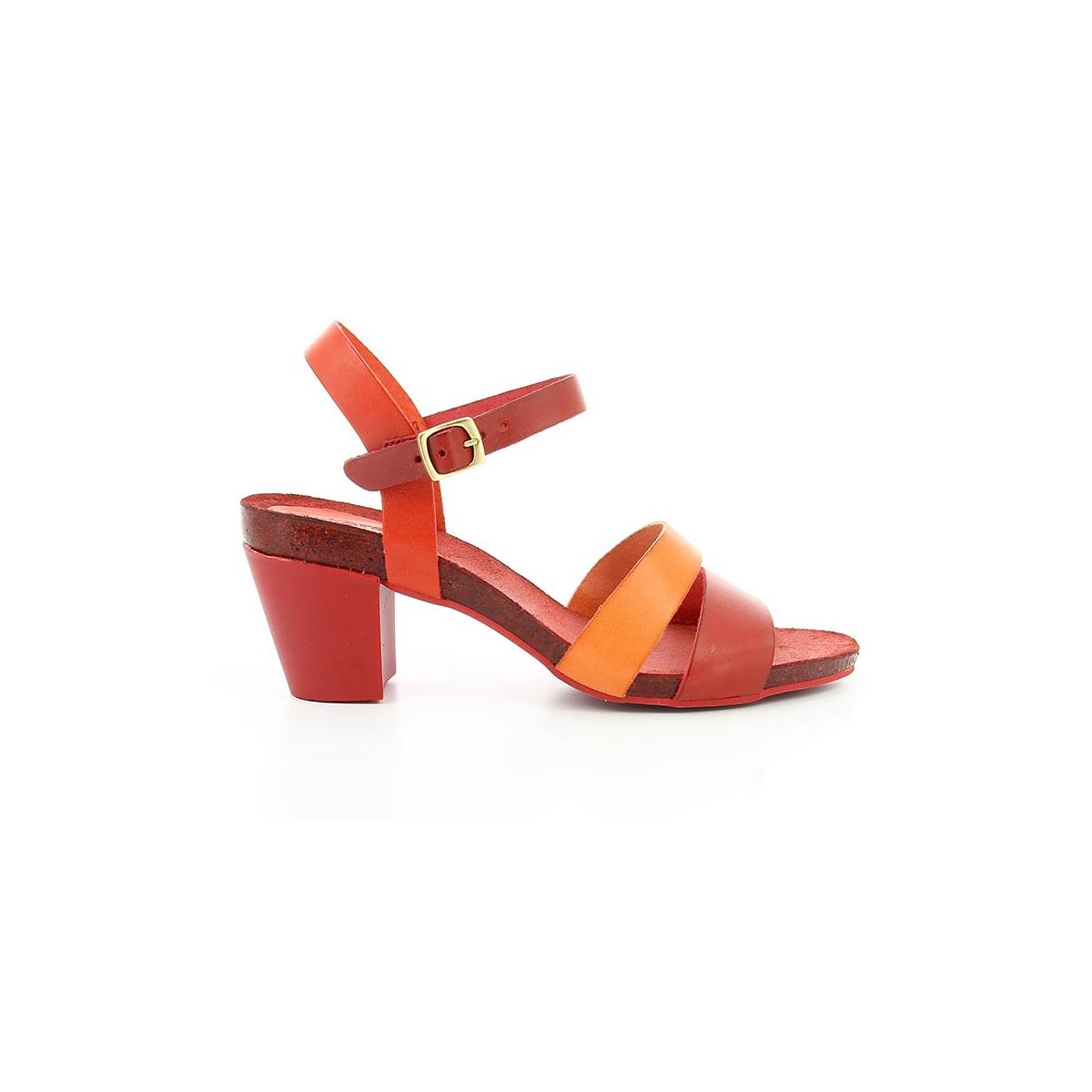 Sandales à talon Pietra - KICKERS - RougeKickers JjhKtN2aa6