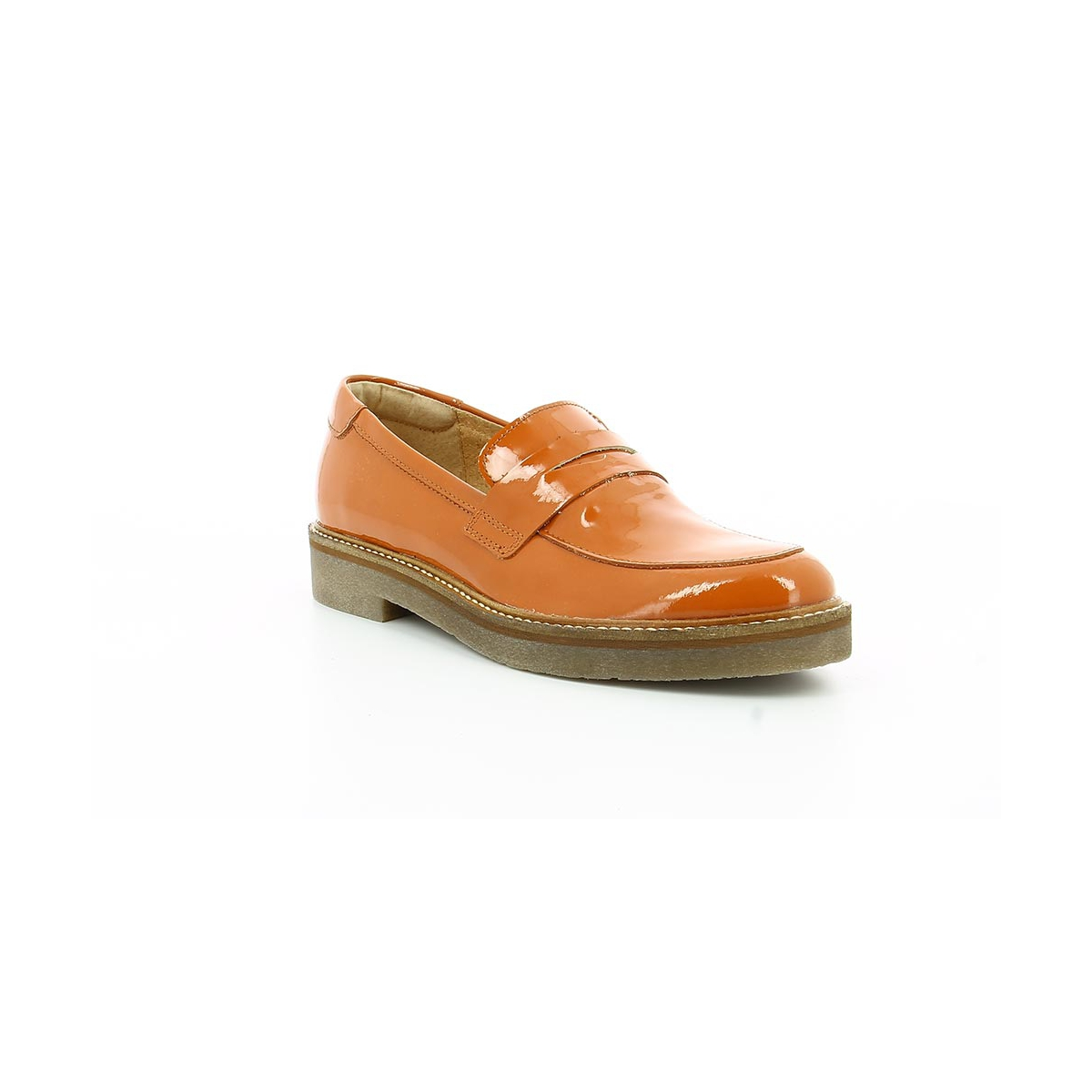 Oxmox - Mocassins Femmes / Kickers Orange dUAODS