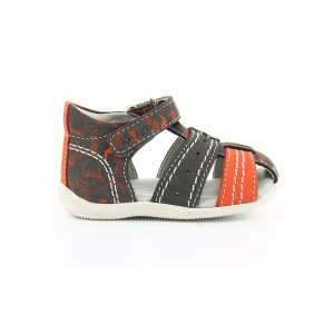 Kickers BIGBAZAR GRIS IMPR ORANGE