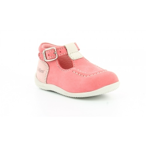 Kickers BONBEK ROSE BLANC