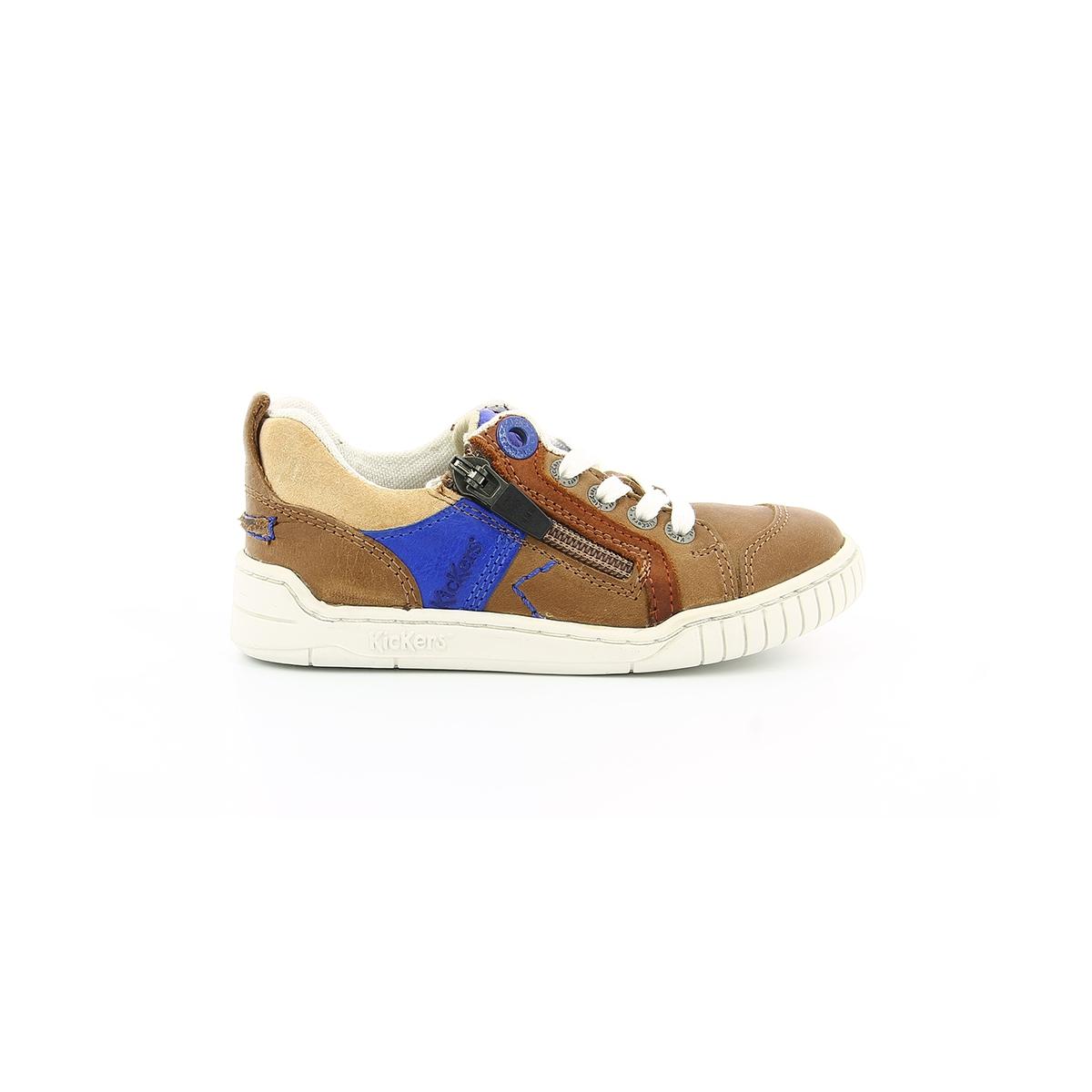 chaussures enfant winchester marron bleu kickers. Black Bedroom Furniture Sets. Home Design Ideas