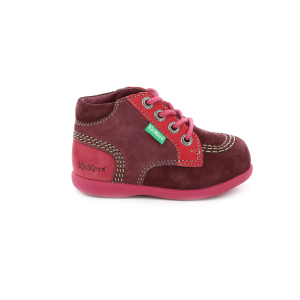 Kickers BABYSTAN BORDEAUX ROSE