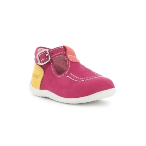 Kickers BONBEK FUCHSIA ORANGE CLAIR JAUNE