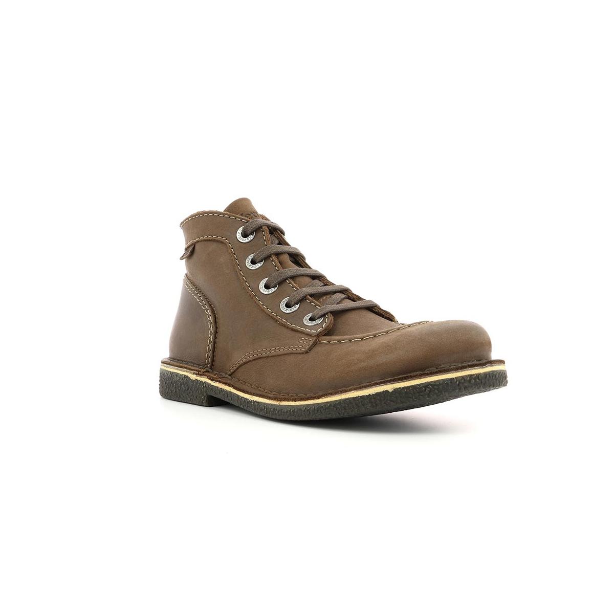 chaussures femme legendiknew marron fonce perm kickers. Black Bedroom Furniture Sets. Home Design Ideas