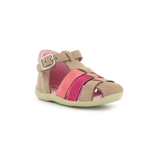 Kickers BIGFLY BEIGE FUSCHIA ORANGE