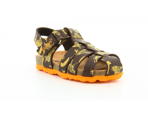 SUMMERTAN BROWN YELLOW PRINTED SMU