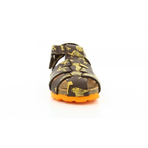 Kickers SUMMERTAN BROWN YELLOW PRINTED SMU