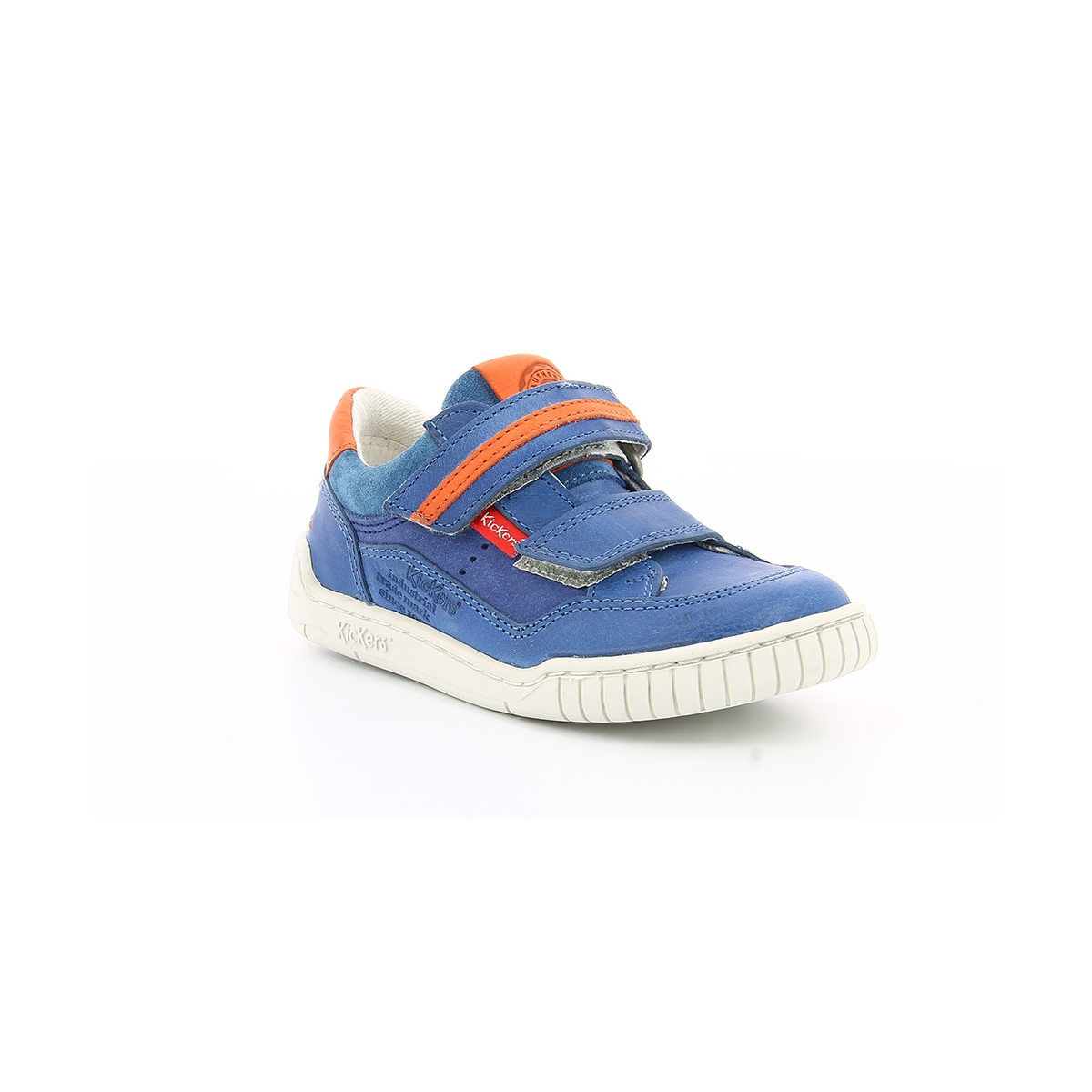 chaussures enfant wikette bleu orange kickers. Black Bedroom Furniture Sets. Home Design Ideas