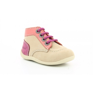 Kickers BONBON BEIGE PINK PURPLE