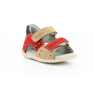 Kickers BOPING BEIGE ROUGE MARINE