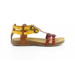 Kickers ANA CAMEL MULTICOLOR RED