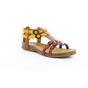 Kickers ANA CAMEL MULTICOLOR ROUGE