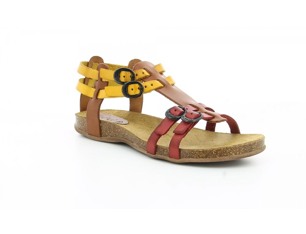 Kickers ANA CAMEL MULTICO ROUGE