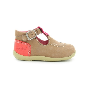 Kickers BONBEK BEIGE FUCHSIA ORANGE