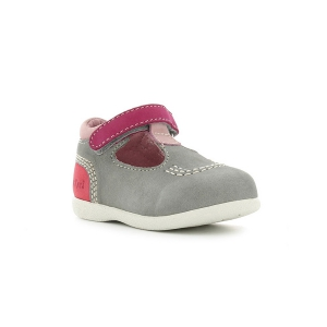 Kickers BABYFRESH GRIS CLAIR CORAIL