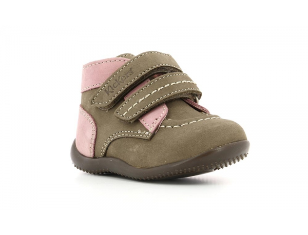 Kickers BONKRO GRIS ROSE