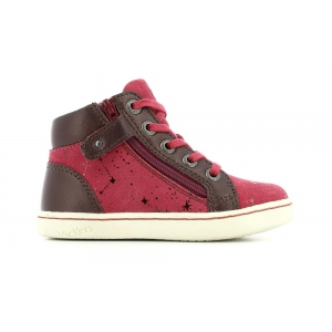 Kickers LYLUBY BURGUNDY METALLIC