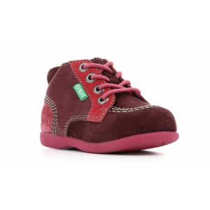 Kickers BABYSTAN BORDEAUX FUSCHIA