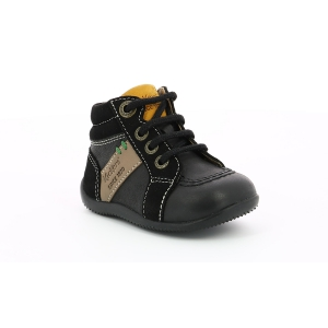 Kickers BAKARI BLACK GREY YELLOW