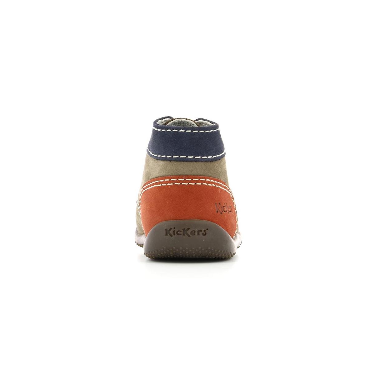 57e7c4bb1b5 Botas Bebé Bonbon gris azul naranja - Zapatos Bebé - Kickers