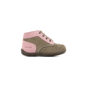 Kickers BONZIP GRIS ROSE
