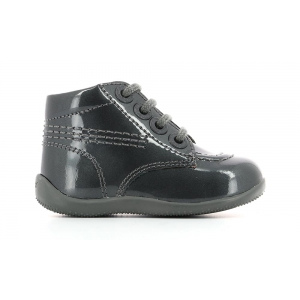 Kickers BILLISTA GREY DARK PATENT